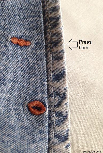 cómo coser dobladillo de jeans