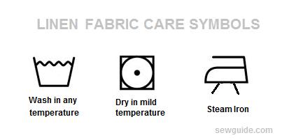 etiqueta de cuidado de tela de lino