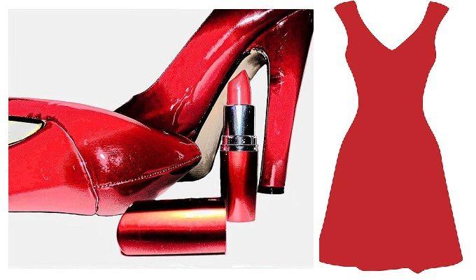 accesorios de vestido rojo