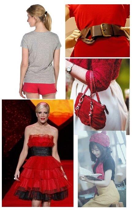 consejos de estilo de moda de color rojo