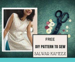 cortar y coser salwar kameez
