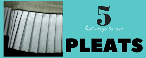 como coser pliegues