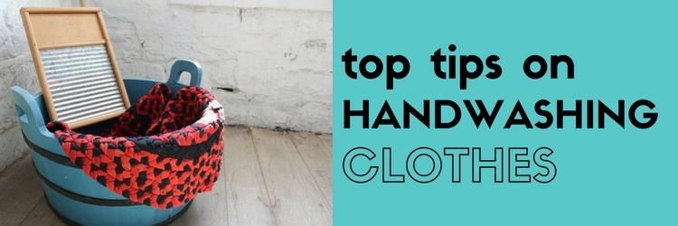 Cómo lavar a mano la ropa
