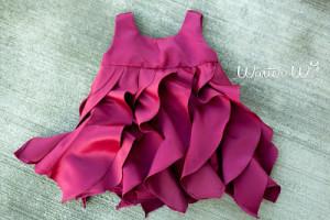 vestido de fiesta de costura