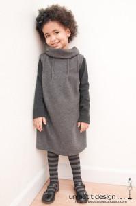 tutorial de ropa de invierno vestido gris