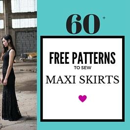 falda larga y patrones de vestido