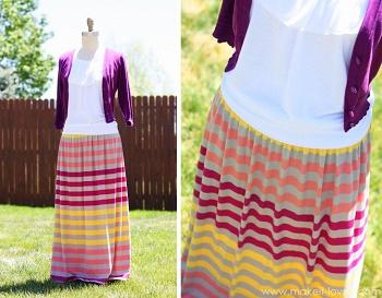 patrones de falda maxi
