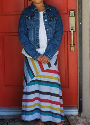 tutorial de falda larga