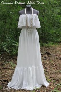 patrón de vestido maxi