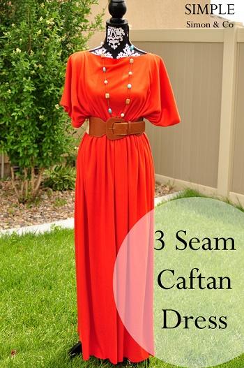 como coser un vestido kaftan