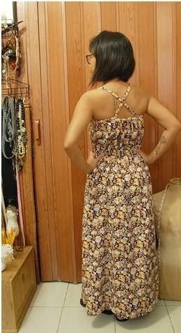 patrón de vestido maxi simple