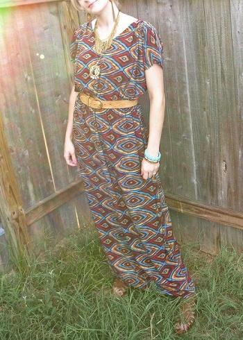 como coser una falda larga kimono