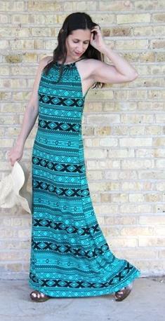 como coser un vestido largo