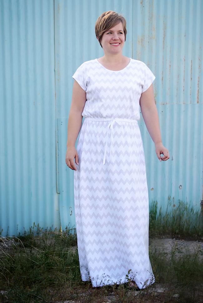 tutorial para coser un vestido largo