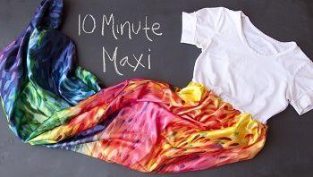 Vestido maxi de 10 minutos