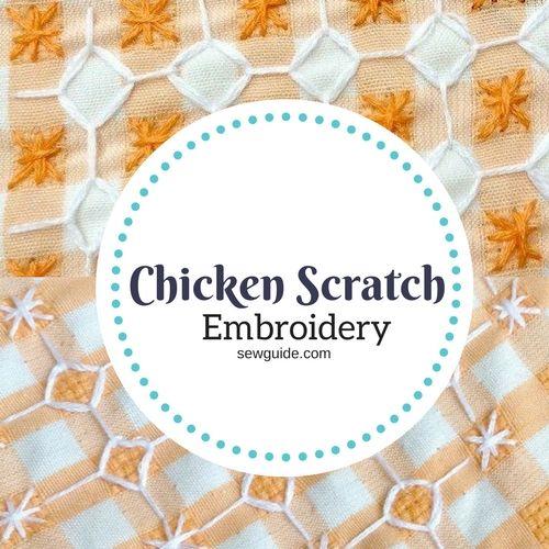 bordado de rasguño de pollo