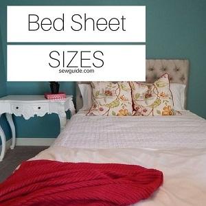 tamaños de sábanas