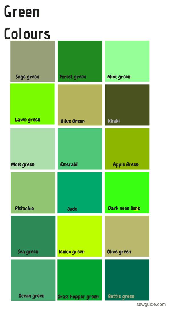 colores y nombres