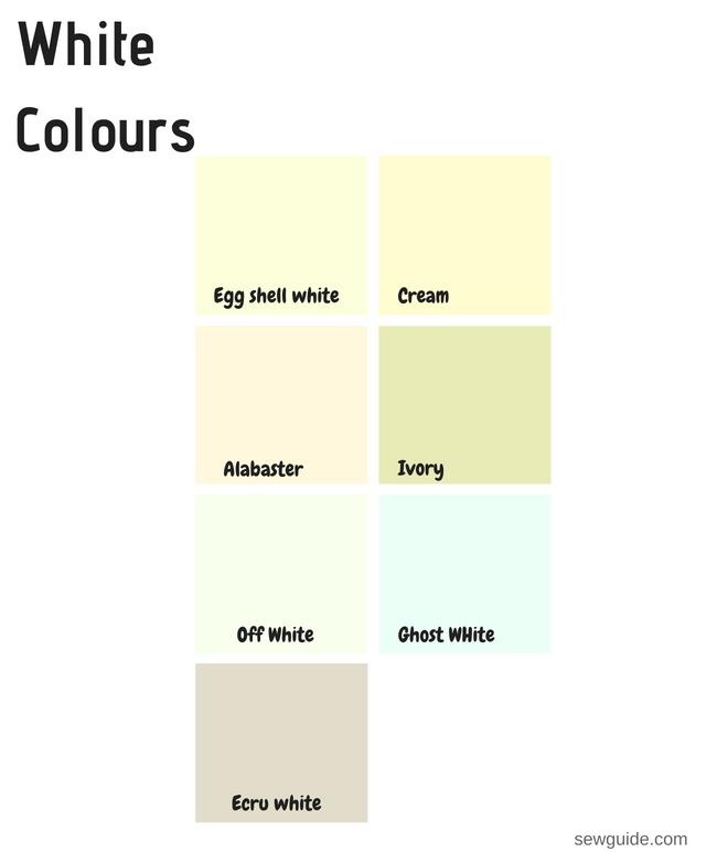 nombres de color blanco
