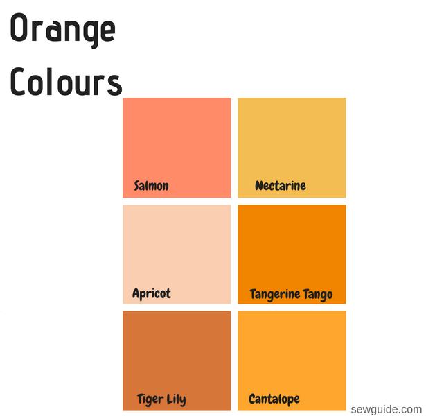 nombres de colores en el diseño de moda