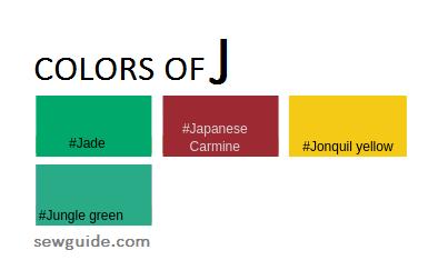 nombres de colores en la moda