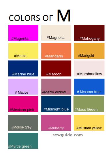 colores utilizados en el diseño de moda