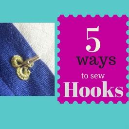 como coser ganchos y ojo