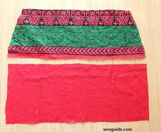 patrón de pantalones de danza del vientre