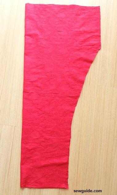 patrón de costura del pantalón