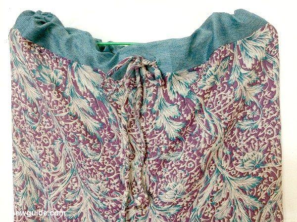 pantalones de salón con cordón patrón de bricolaje