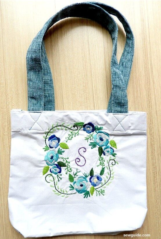 coser una bolsa de compras