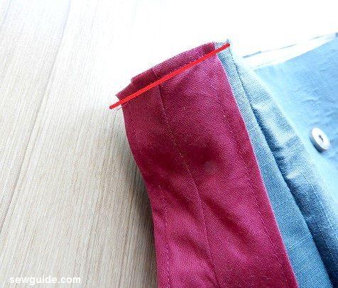 coser una bolsa de mensajero