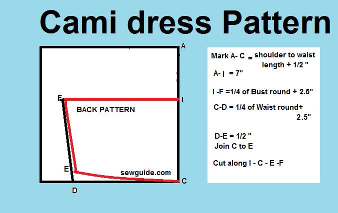 patrón de vestido cami