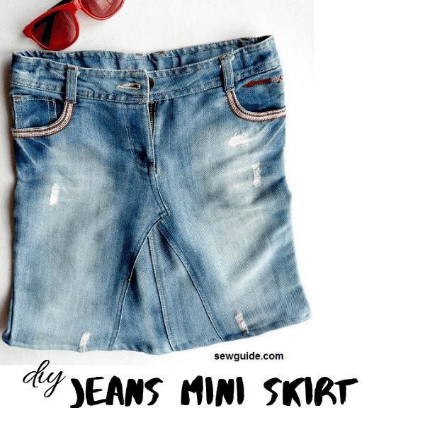 patrón de falda de jeans