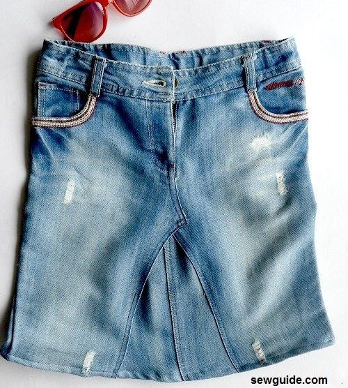 falda jeans minifalda