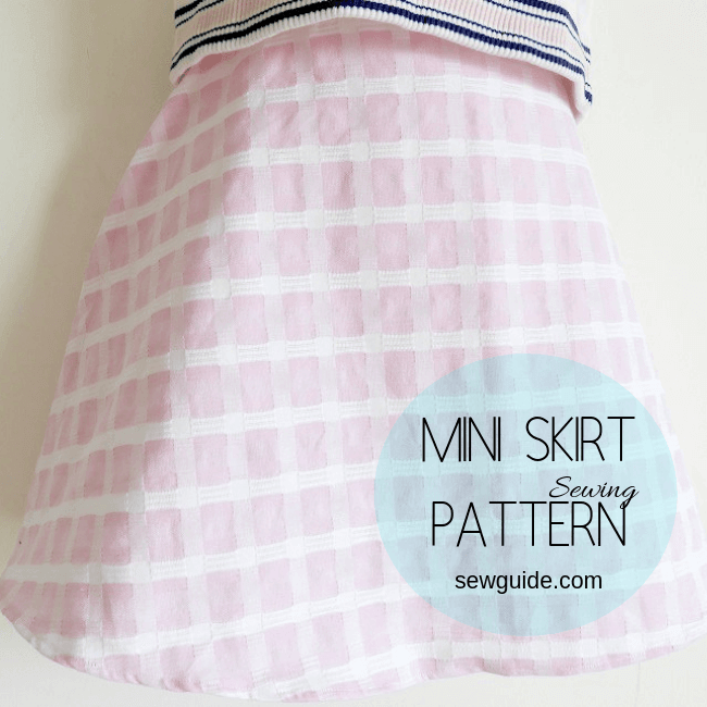 patrón de mini falda
