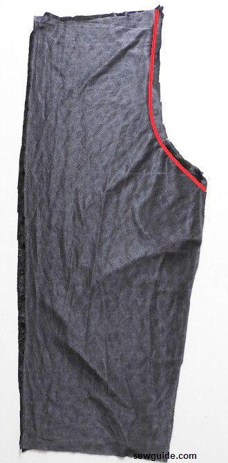 como coser pantalones capri