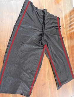 costura de patrón de pantalones capri