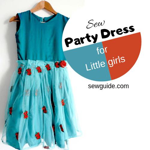 patrón de vestido de fiesta