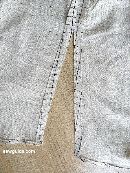 patrón de costura del vestido fuera del hombro