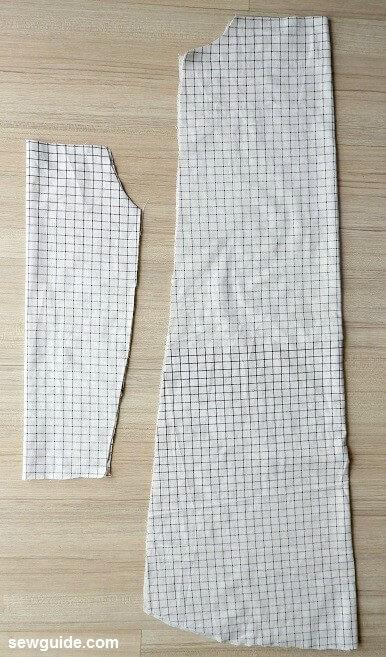patrón de costura del vestido con hombros descubiertos
