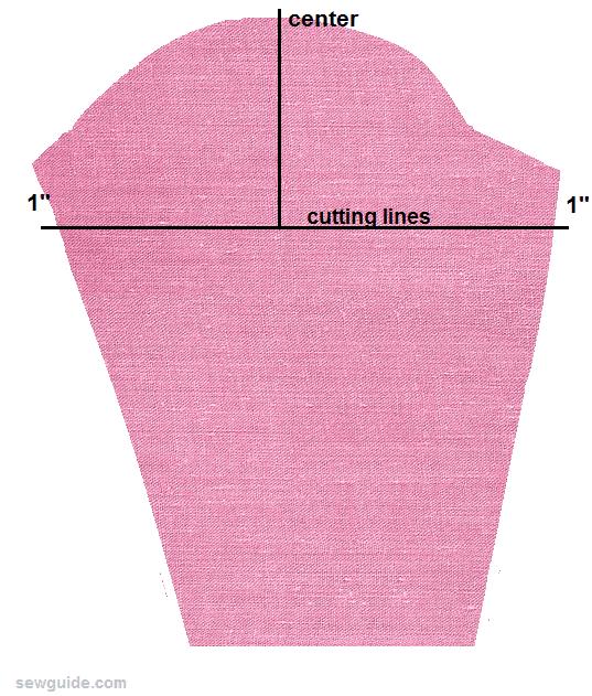 pierna de patrón de manga de cordero