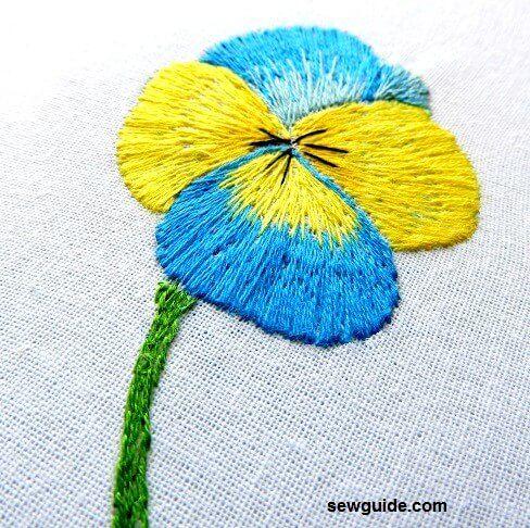hilo pintura pensamiento flor