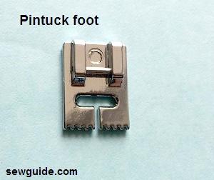 pie de presión de pintuck
