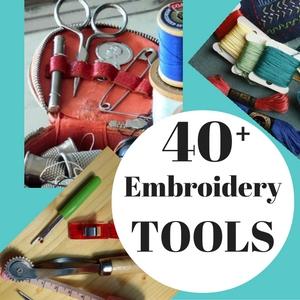 herramientas de suministros de bordado