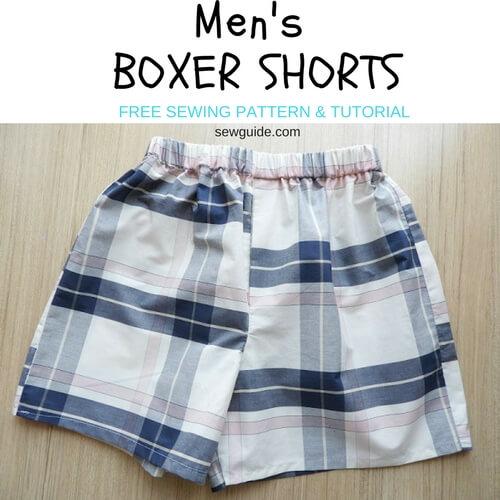 patrón de calzoncillos para hombre
