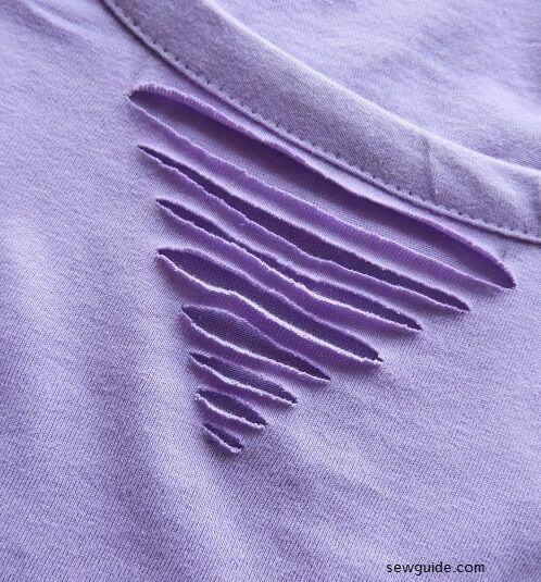 diseño de corte de camiseta