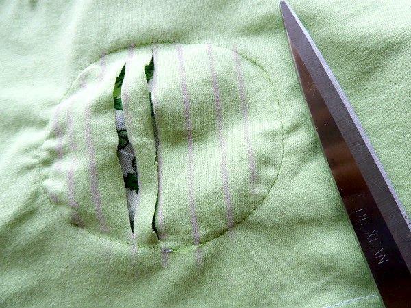 instrucciones de corte de camiseta
