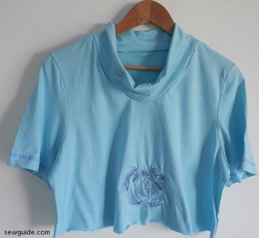 camiseta de corte de bricolaje