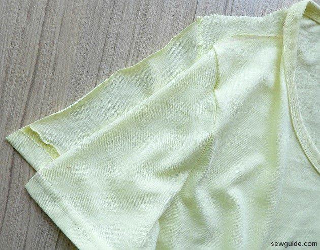 cortar la camiseta instrucciones de bricolaje